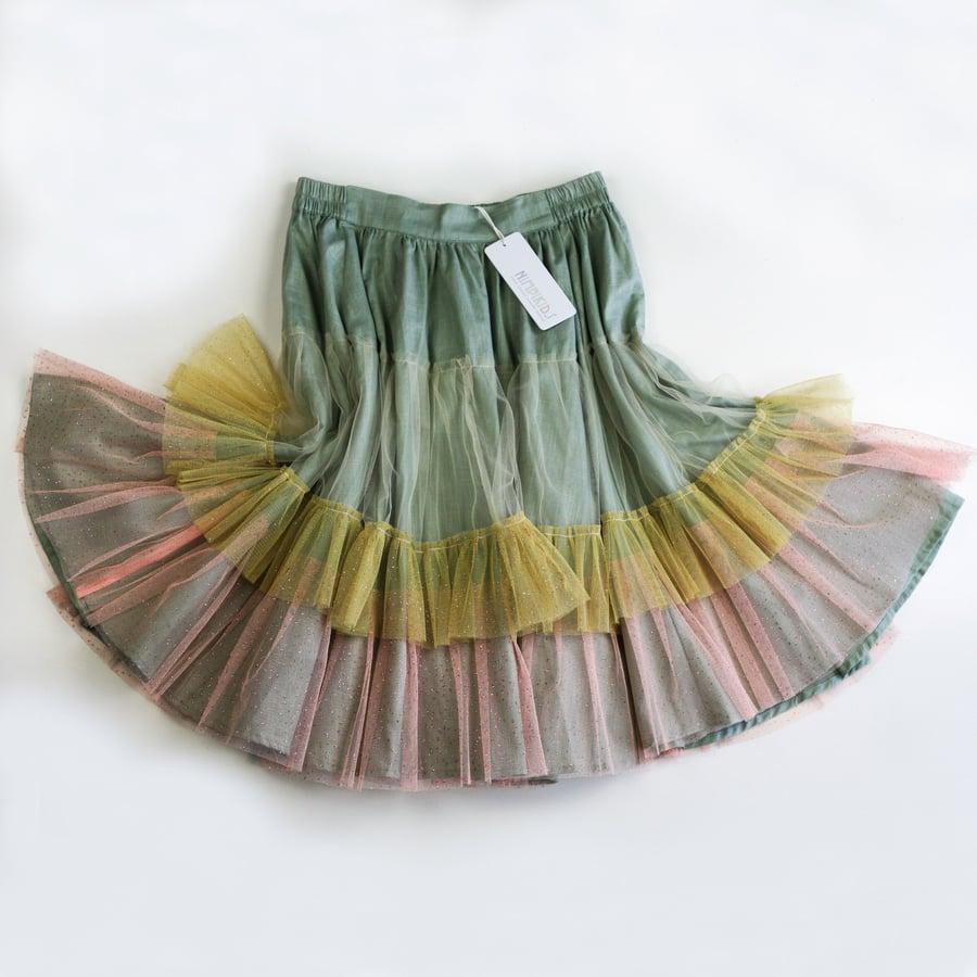 Image of Wonderland Tulle Skirt - Sage Macaroon