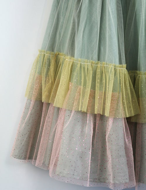 Image of Wonderland Tulle Skirt - Sage Macaroon
