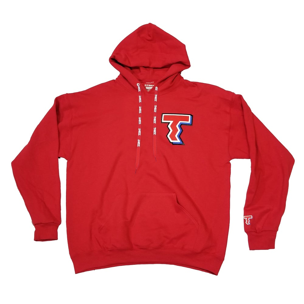 """Image of THIZZ PATCH HOODIE """"RED"""""""