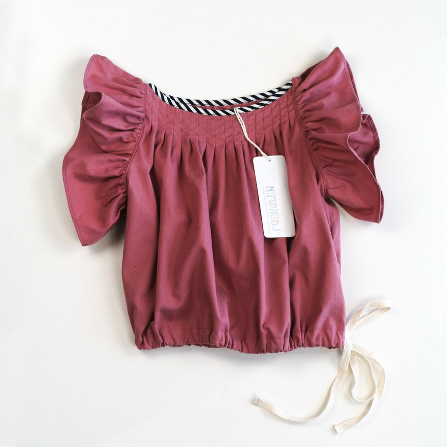 Image of Lucia Ruche Top - Dusty Pink