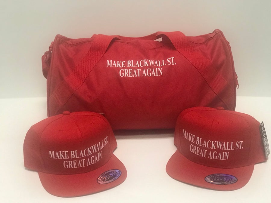 Image of MAKE BLACKWALLST. GREAT AGAIN RED SNAPBACK
