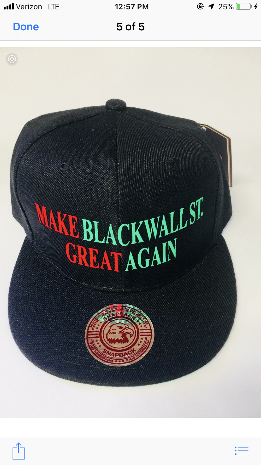 Image of MAKE BLACKWALLST. GREAT AGAIN RBG SNAPBACK