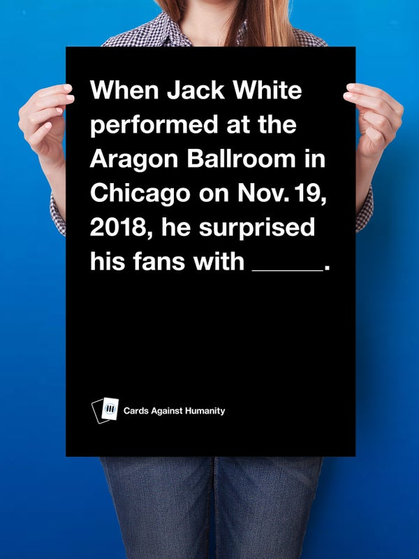 Image of JW Poster + CAH game cards