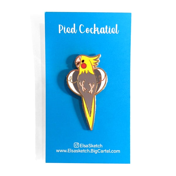 Image of Pied Cockatiel Enamel Pin