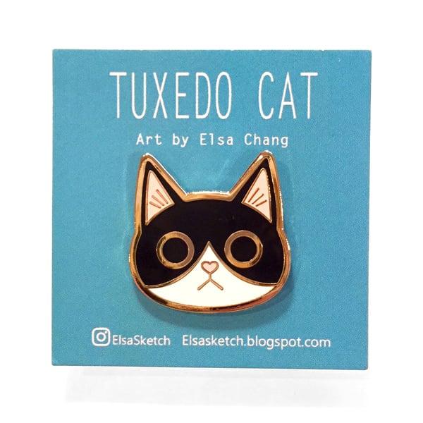 Image of Tuxedo Cat Enamel Pin