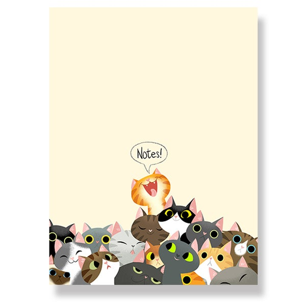 Image of Cat Crowd Notepad