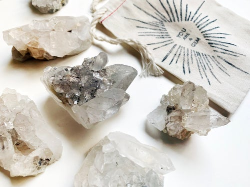 Image of QUARTZ CRYSTAL CLUSTER & POINTS // YOU ARE A GEM // MEDIUM