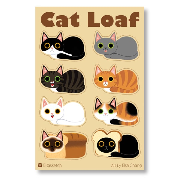 Image of Cat Loaf Sticker Sheet