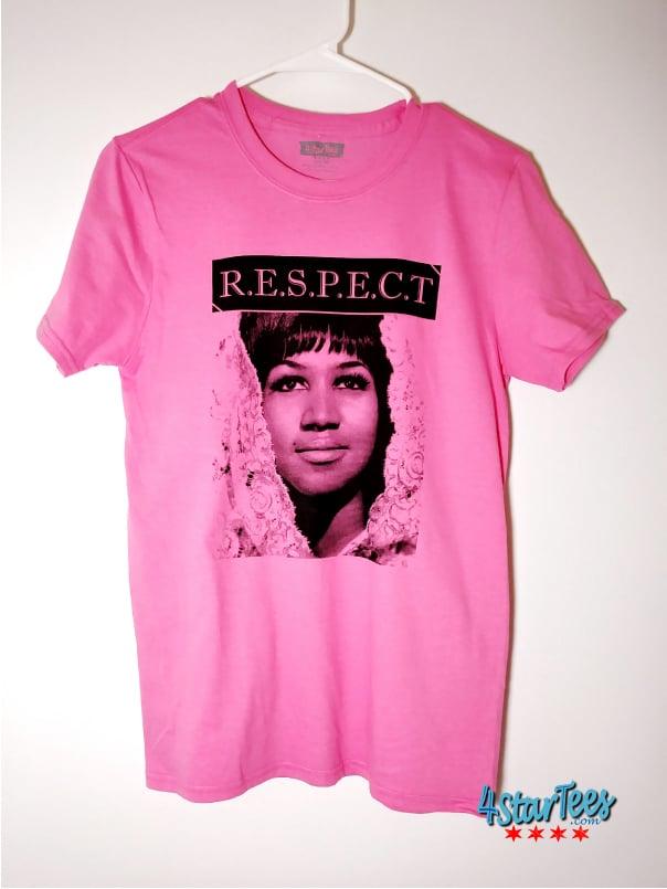 Image of Aretha R.E.S.P.E.C.T Unisex Tee - Azalea Pink