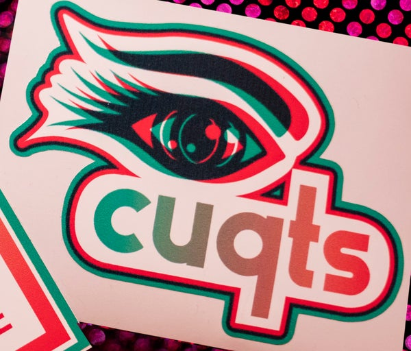 Image of ICUQTS EYE LOGO STICKER