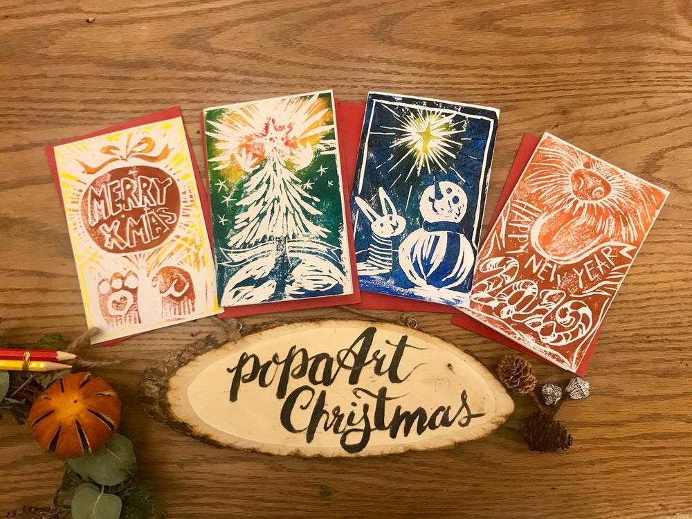 Image of Charity Christmas Cards - PopaArt Style