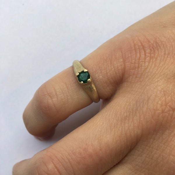 Image of Emerald Pinkie Ring