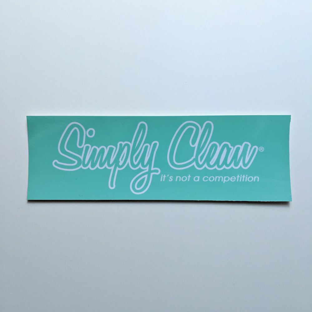 Image of Simply Clean Box Logo Sticker... Tiffany