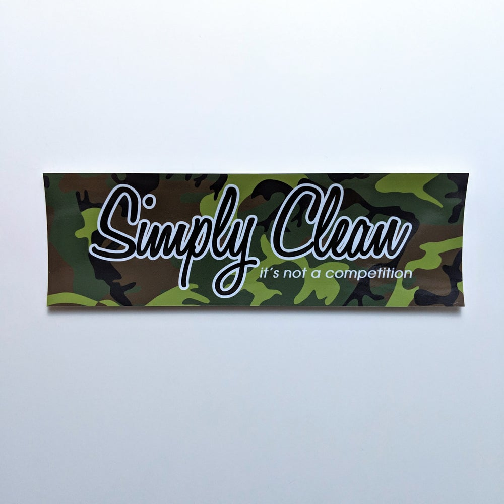 Image of Simply Clean Box Logo Sticker... Camo