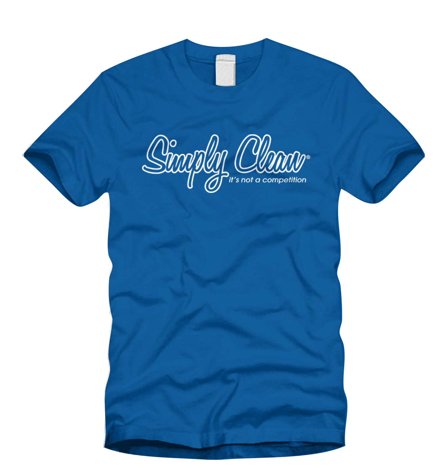 Image of Unisex Logo Tee… Royal Blue/White