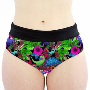 Image of Dinosaurs High Waisted Cheeky Shorts