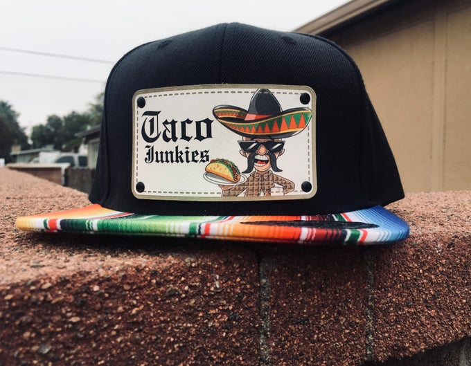 Image of Taco Junkies sarape logo hat
