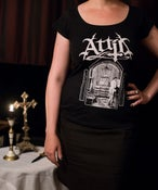"Image of Girly-Shirt ""Sanctimonious Whore"" Black"