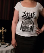 "Image of Girly-Shirt ""Sanctimonious Whore"" White"