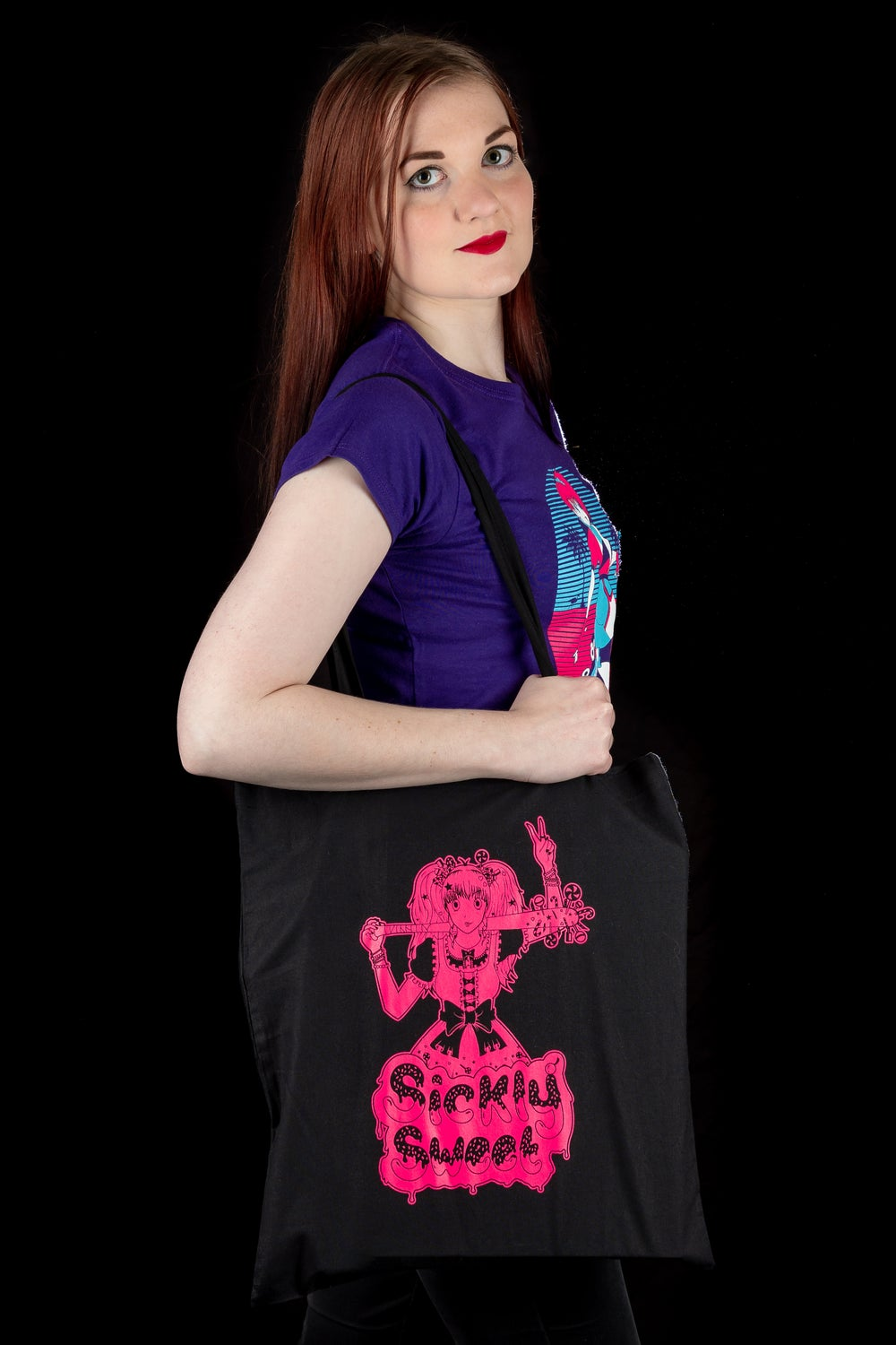 Sickly Sweet Neon Anime Tote Bag
