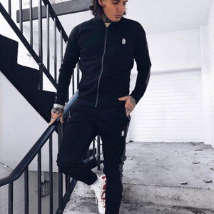 Image of TRACKSUIT BOTTOMS • BLACK/GREY