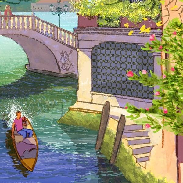 Image of Venice Bridge Near the Arsenale