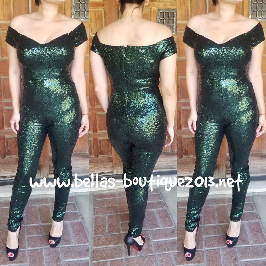 Image of Girl's Night Out Sequins Jumpsuit