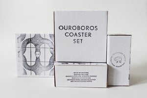 Image of N E W  Ouroboros Coaster Set