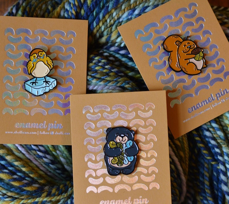 Image of New colors available! Forest Friends Enamel Pins