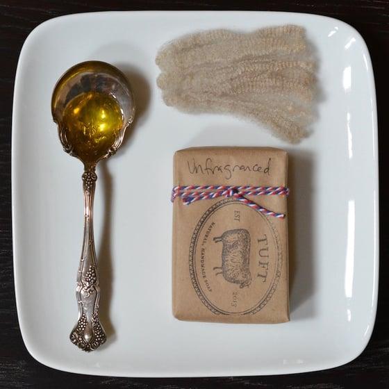 Image of Unfragranced Sock soap - Natural Lanolin Wool Wash