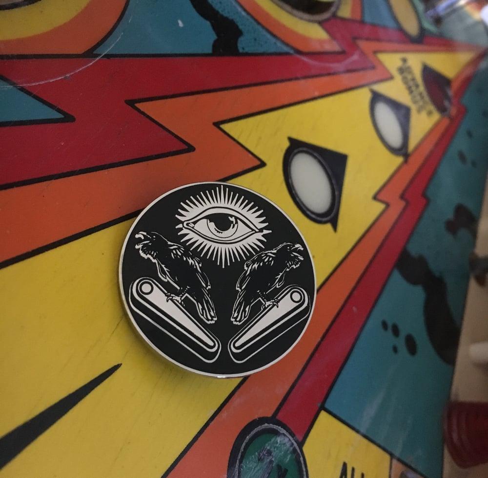 Image of Eye of Odin Enamel Pin