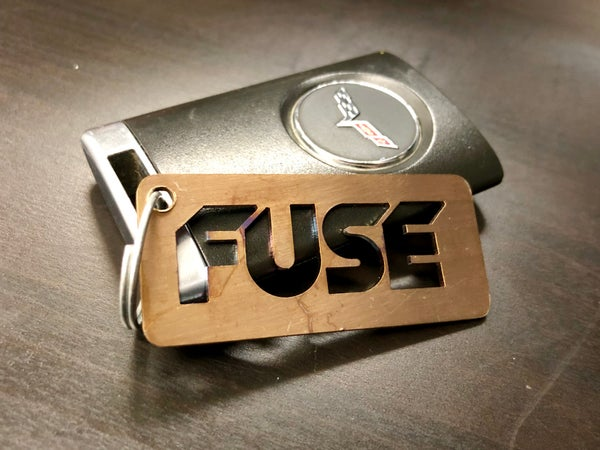 Image of Fuse tag keychain