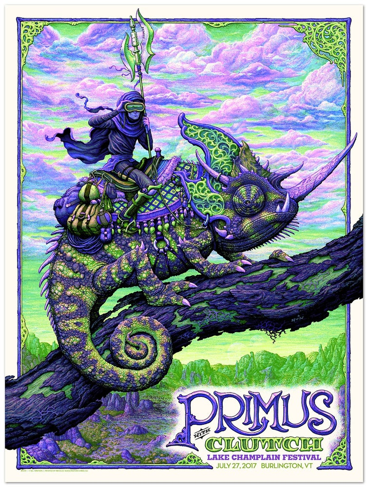 Image of PRIMUS w/Clutch Gig Poster: Lake Champlain, VT Bad Acid Variant