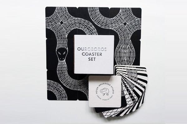 Image of N E W  Ouroboros Coaster Set