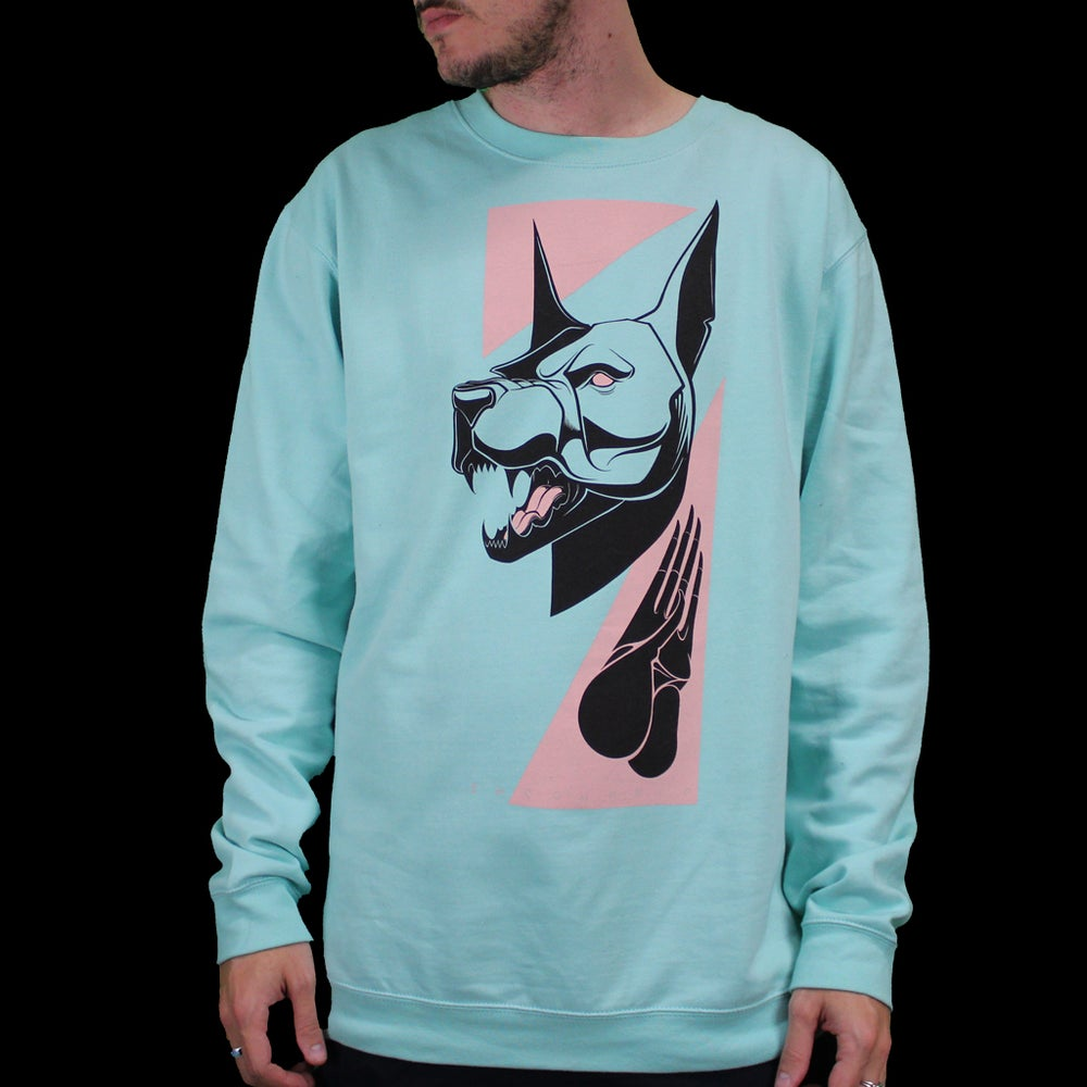 Image of BEWARE CREWNECK SWEATSHIRT