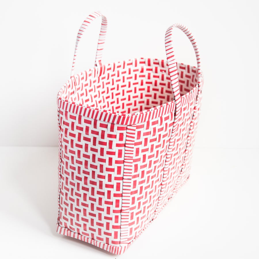 Image of Original Basket in Red & White