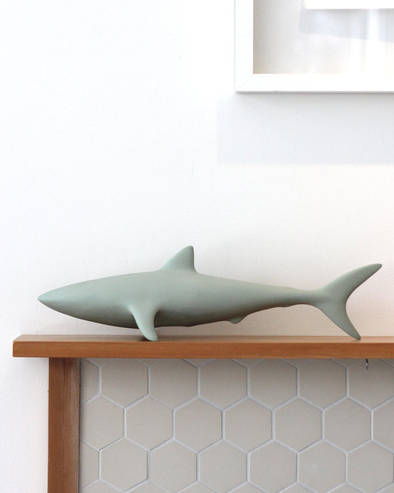 Image of Shark - Sage Green