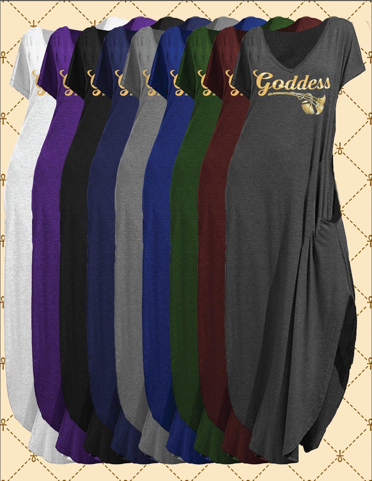 Image of GODDESS VNECK POCKETED MAXI DRESS