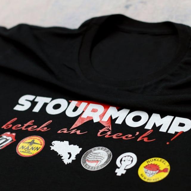"Image of T-shirt noir ""Stourmomp betek an trec'h !"""