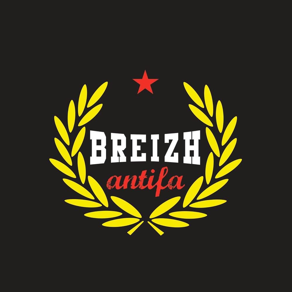 """Image of  T-shirt """"Breizh Antifa Laurier"""" noir"""