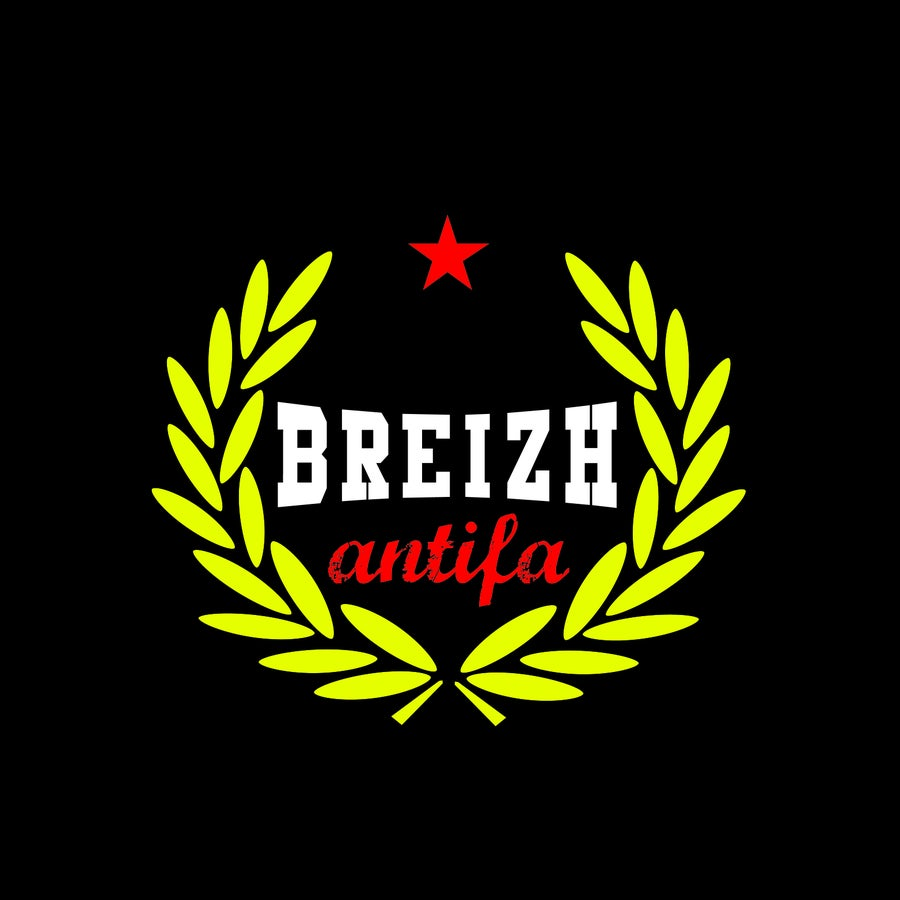 "Image of  T-shirt ""Breizh Antifa Laurier"" noir"