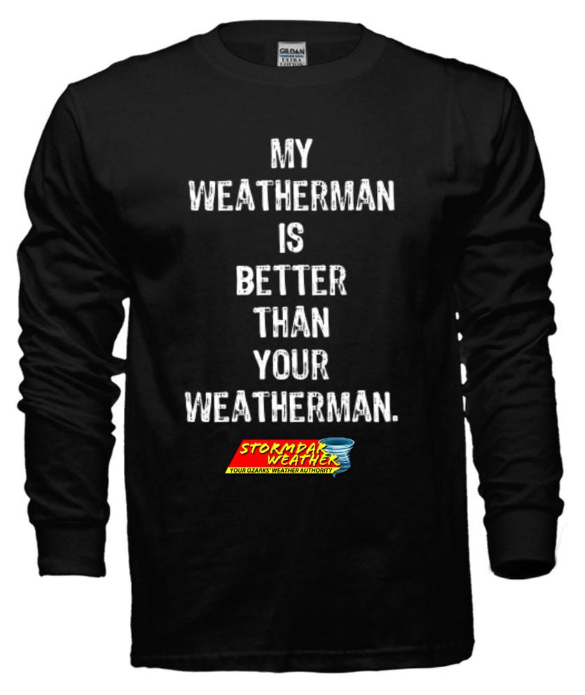 Image of My Weatherman (Black, Long Sleeve)