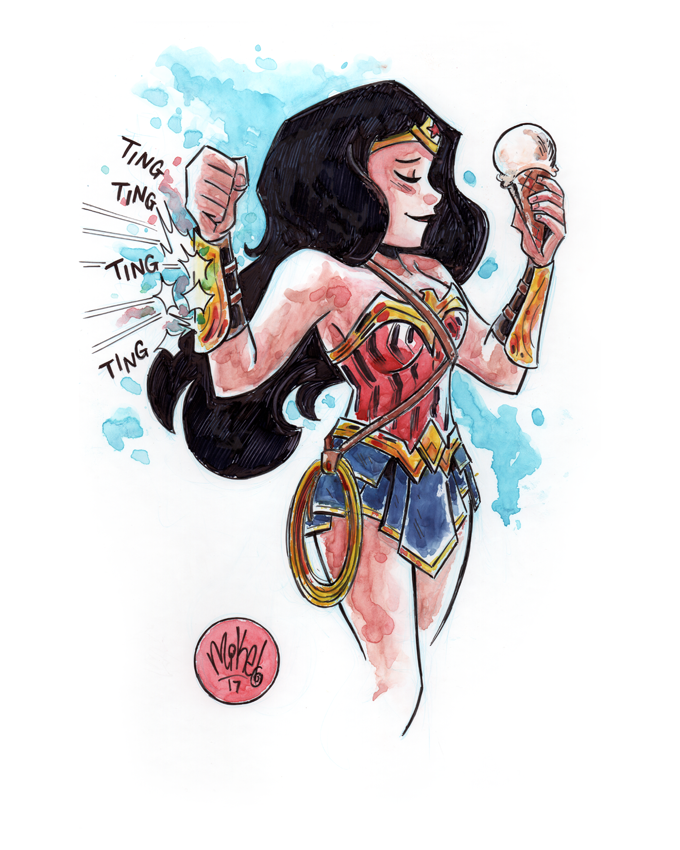 Image of Wonder Woman loves Ice Cream
