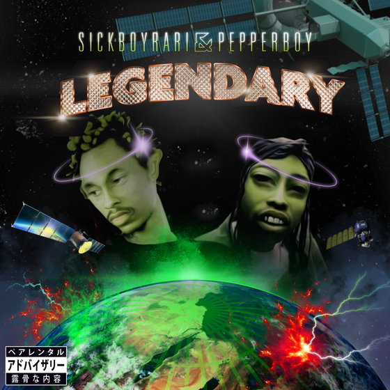 Image of SICKBOYRARI & PEPPERBOY - LEGENDARY - LIMITED CASSETTE RELEASE