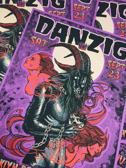 Image of danzig silkscreen poster - edition of 138 signed and numbered