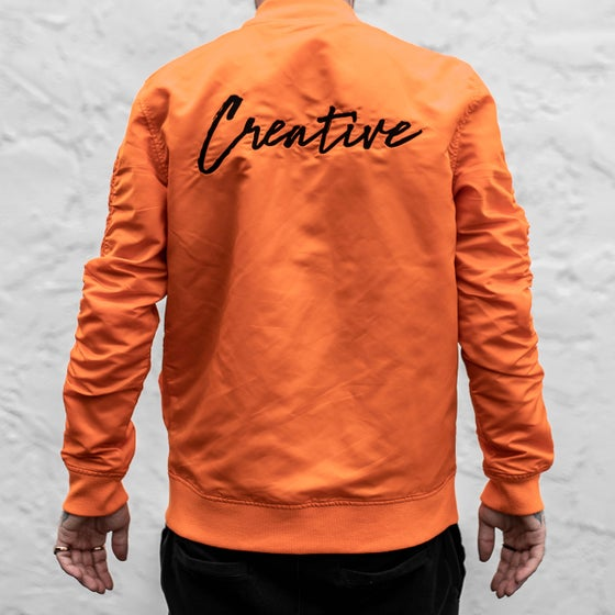 Image of Creative Orange Bomber Jacket