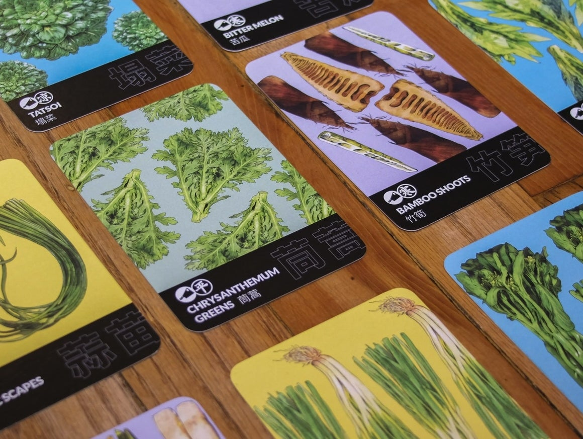 Image of VEGETABLES OF CHINA trading cards