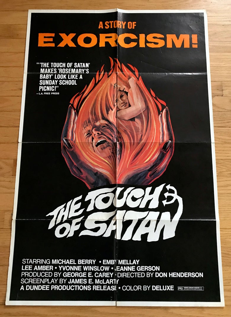 Image of 1971 THE TOUCH OF SATAN Original U.S. One Sheet Movie Poster