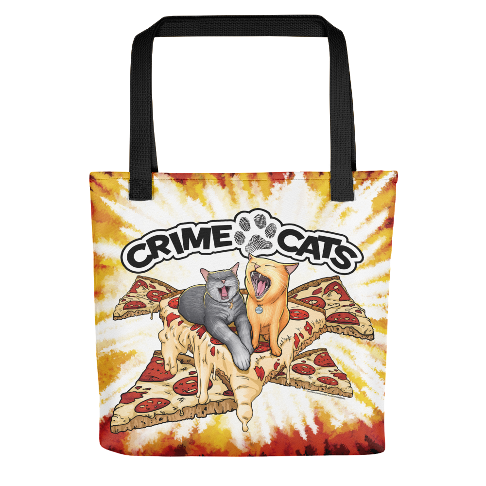 """Image of Crime Cats """"Pizza Cats"""" Tote Bag"""
