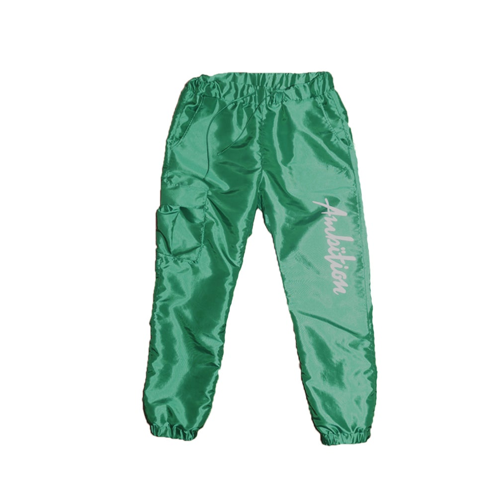 Image of Windbreaker Cargo Pants (Green)